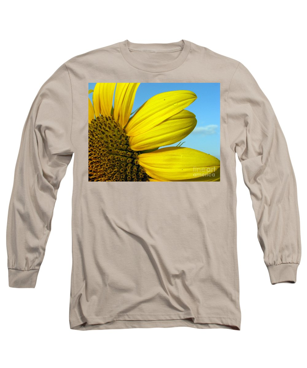 Sunflowers Long Sleeve T-Shirt featuring the photograph Sunflower by Amanda Barcon