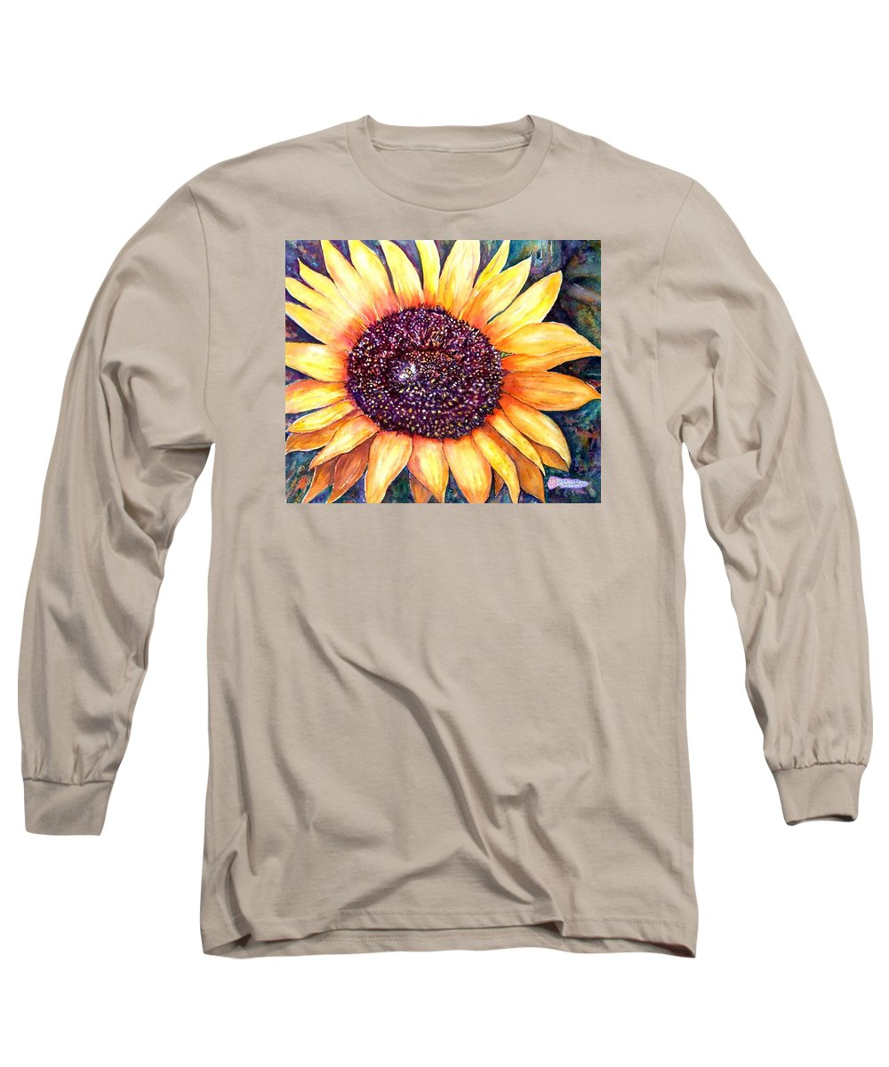 Sunflower Long Sleeve T-Shirt featuring the painting Sunflower Of Georgia by Norma Boeckler