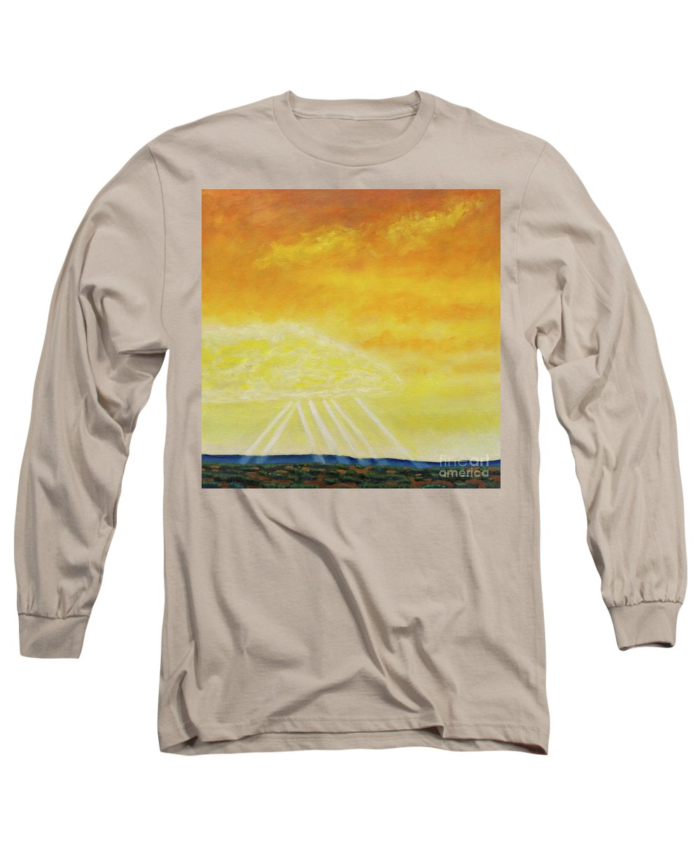 Landscape Long Sleeve T-Shirt featuring the painting Super Seven by Brian Commerford