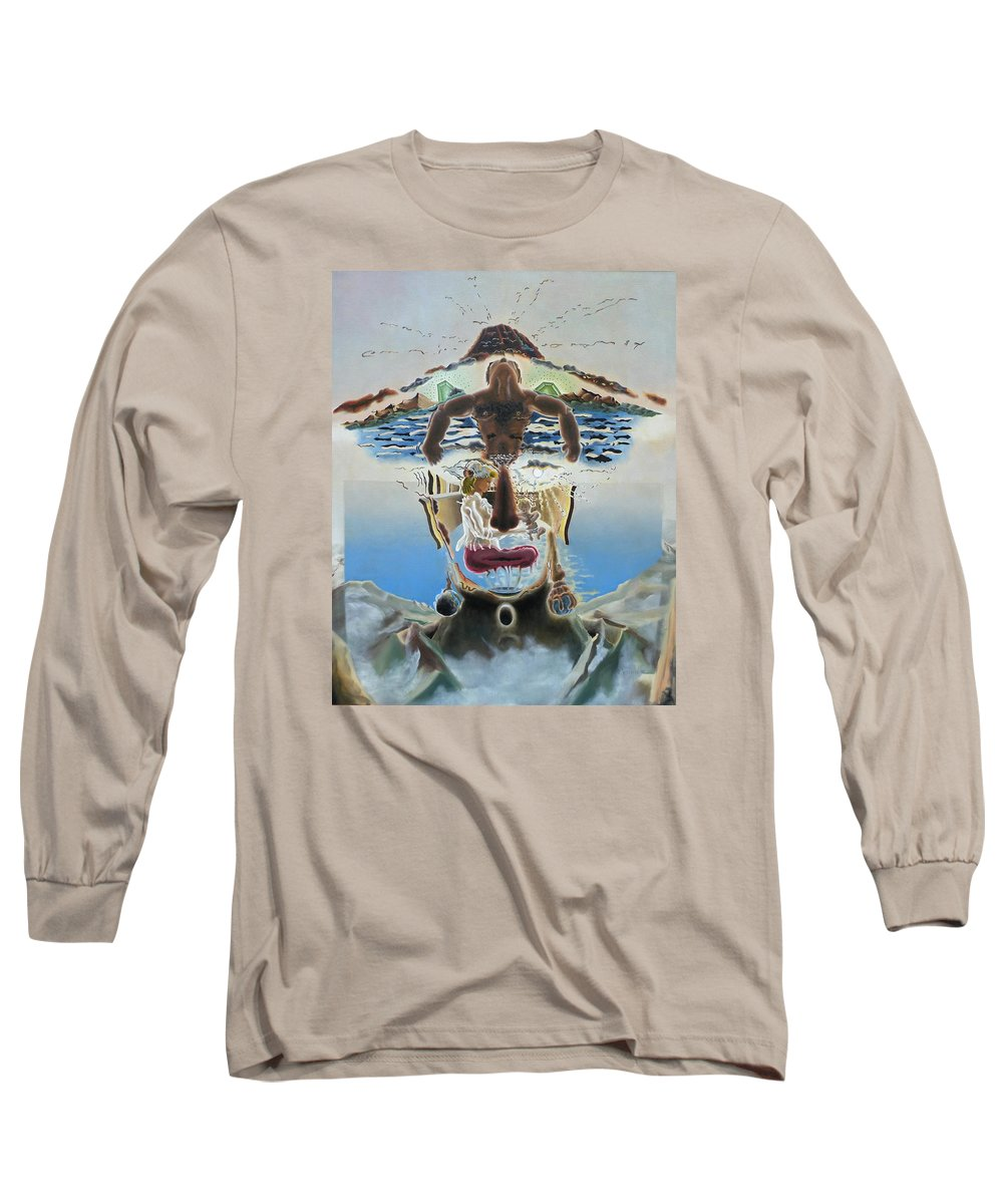 Surreal Long Sleeve T-Shirt featuring the painting Surreal Memories by Dave Martsolf