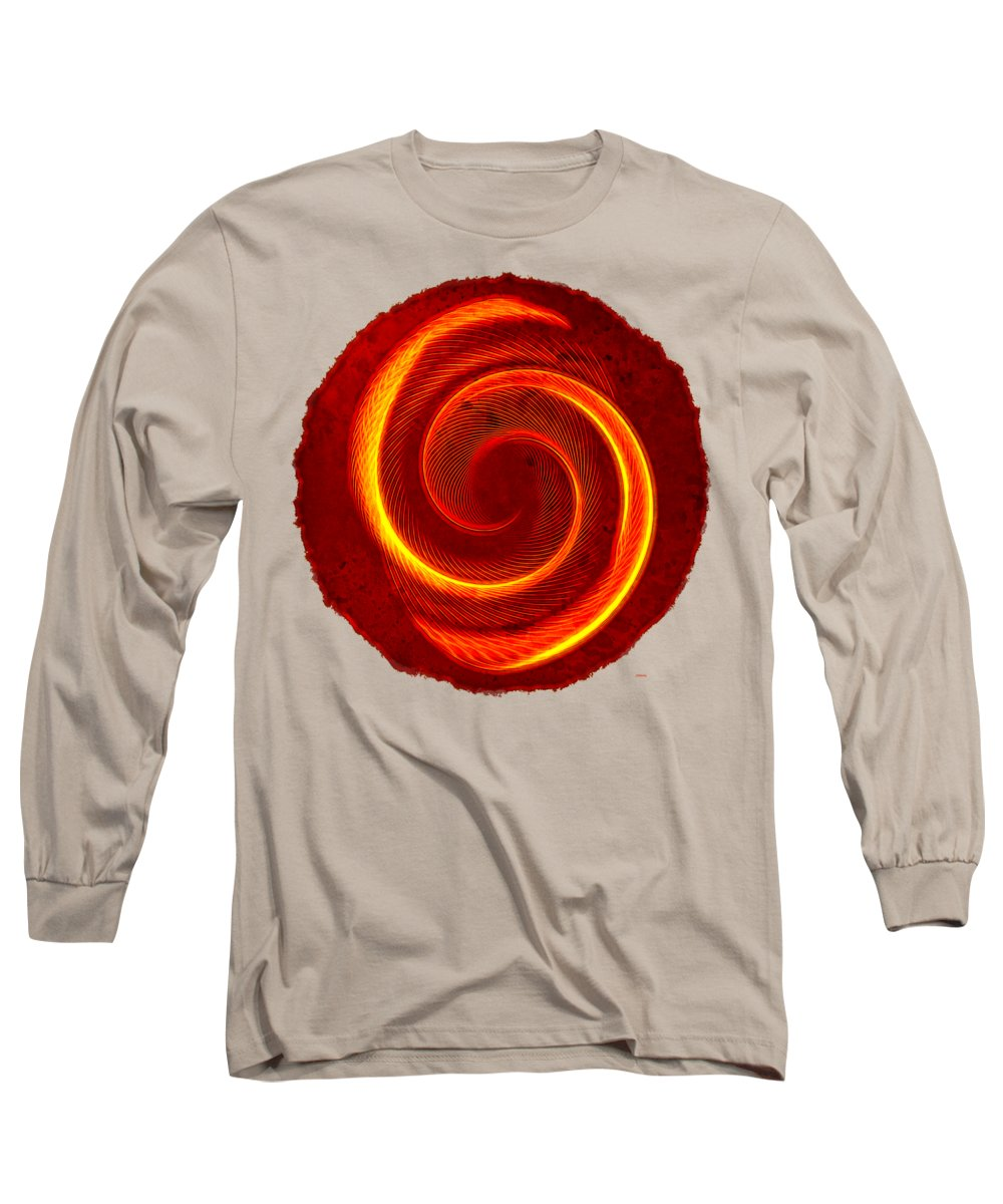 Abstract Long Sleeve T-Shirt featuring the photograph Symbiosis Round by John M Bailey