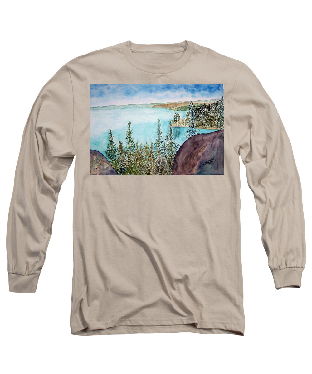 Tahoe Long Sleeve T-Shirt featuring the painting Tahoe Remembered by Larry Wright