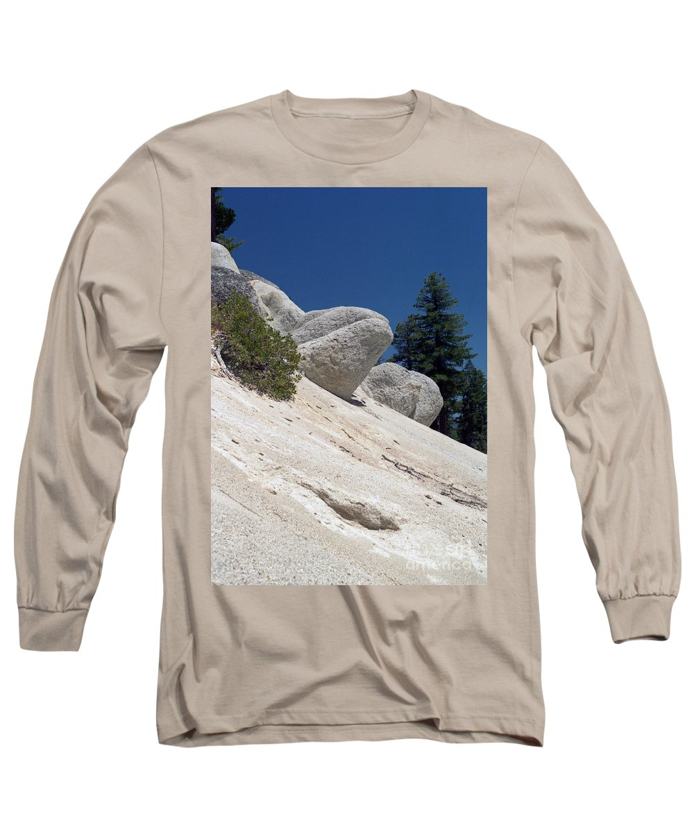 Abstract Long Sleeve T-Shirt featuring the photograph Tahoe Rocks by Richard Rizzo