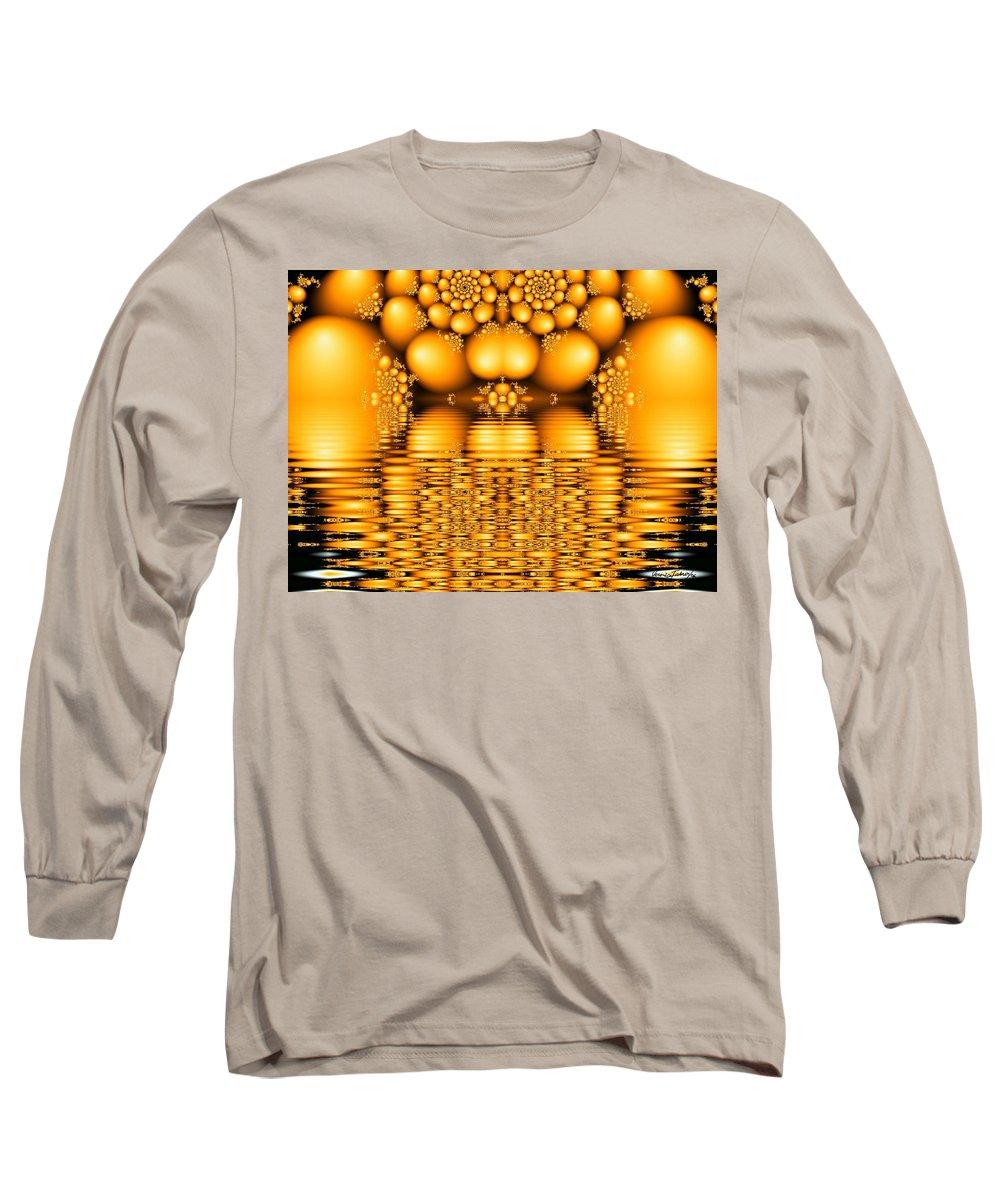 Tangerine Orange Water Sacred Tears Long Sleeve T-Shirt featuring the digital art Tangerine Tears by Veronica Jackson