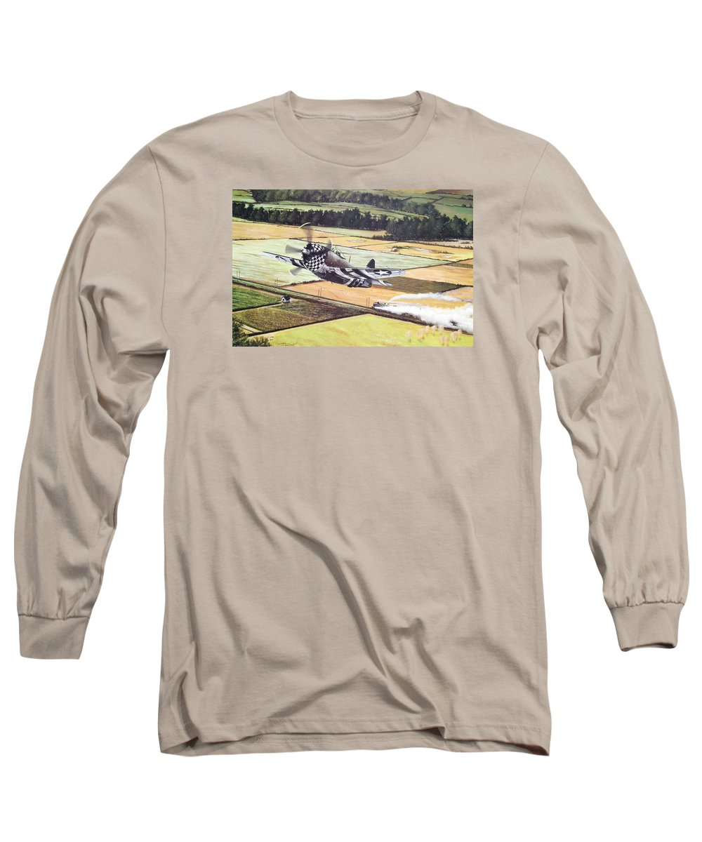 Military Long Sleeve T-Shirt featuring the painting Target Of Opportunity by Marc Stewart