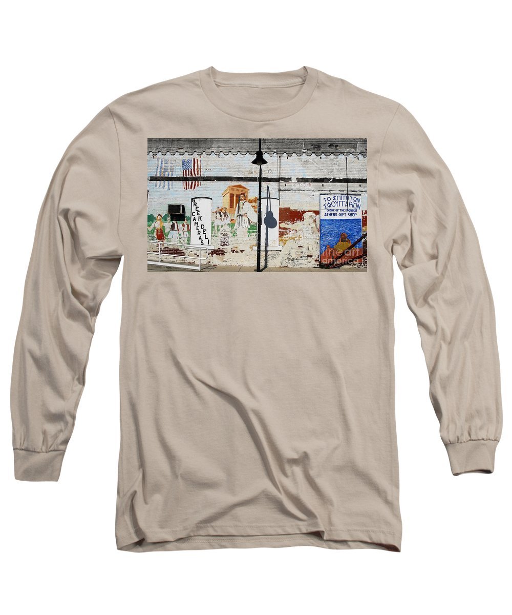 Greek Long Sleeve T-Shirt featuring the photograph Tarpon Springs by David Lee Thompson