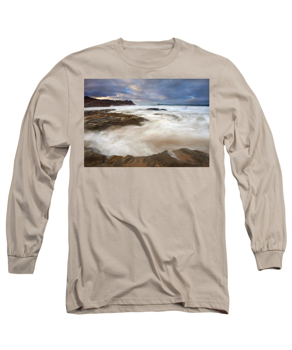 Bowl Long Sleeve T-Shirt featuring the photograph Tempestuous Sea by Mike Dawson