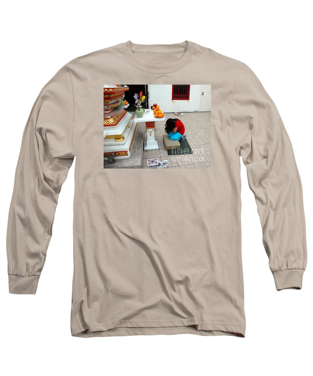 Child Long Sleeve T-Shirt featuring the photograph Temple Prayer by Michael Ziegler