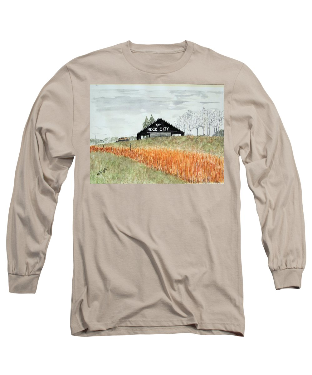 Barns Long Sleeve T-Shirt featuring the painting Tennessee Destination by Larry Wright