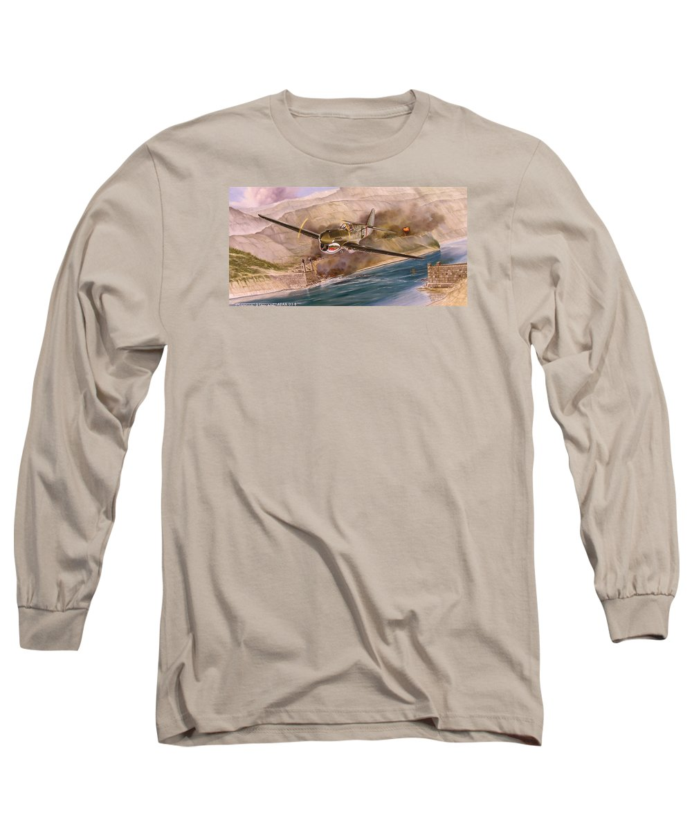 Painting Long Sleeve T-Shirt featuring the painting Tex Hill Over The Salween Gorge by Marc Stewart
