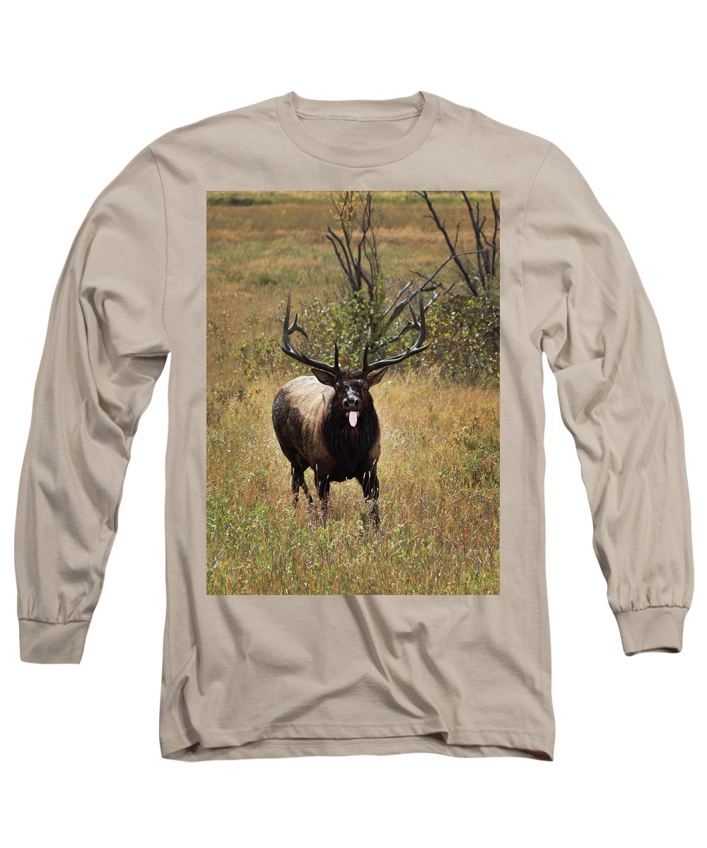 Tongue Long Sleeve T-Shirt featuring the photograph That Moment When by Shane Bechler