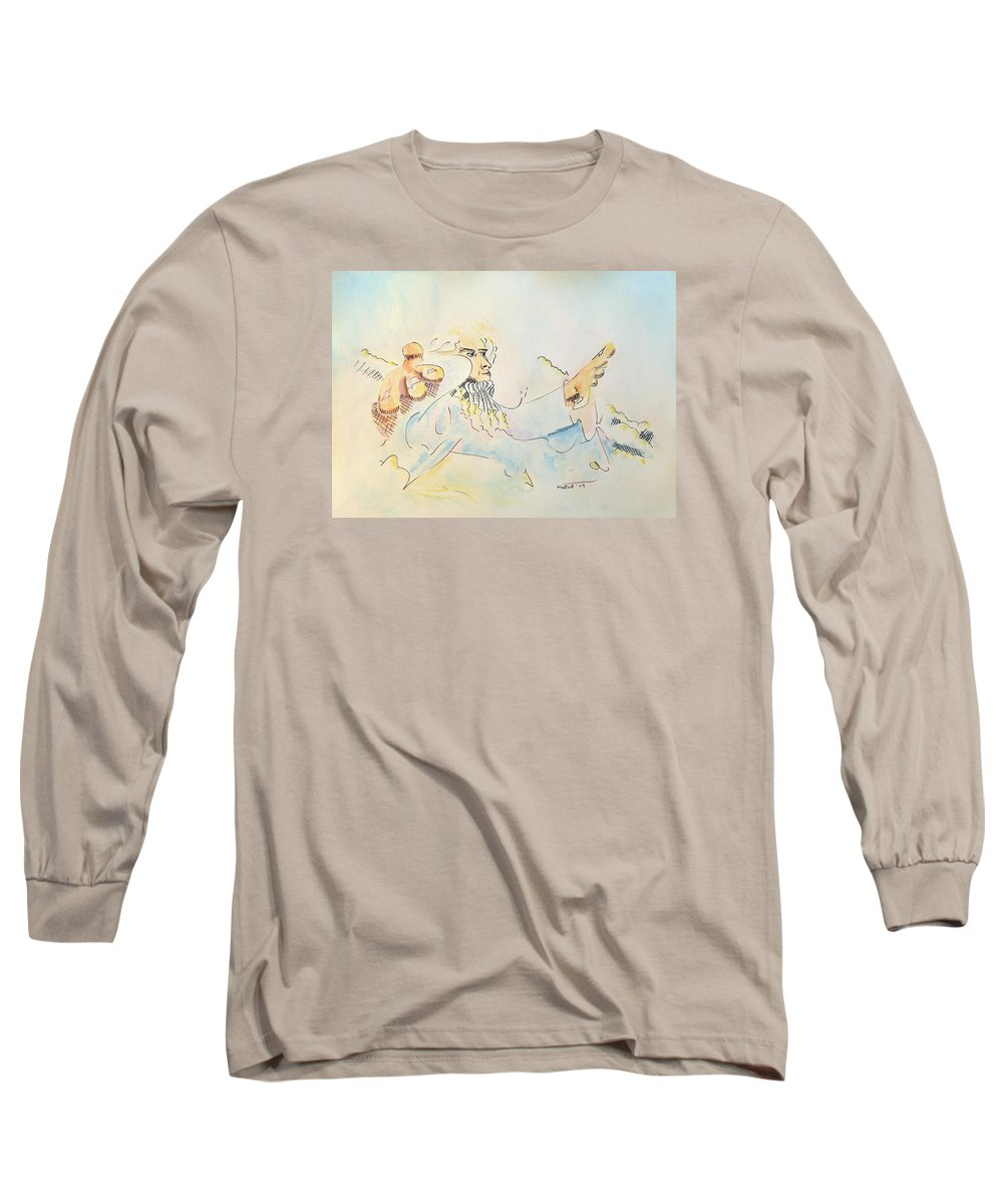 Music Long Sleeve T-Shirt featuring the painting The Conductor by Dave Martsolf