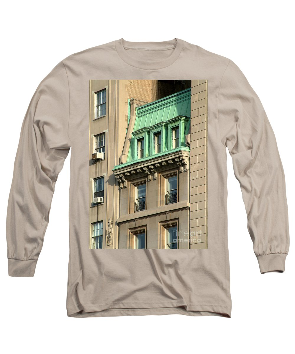 Apartments Long Sleeve T-Shirt featuring the photograph The Copper Attic by RC DeWinter