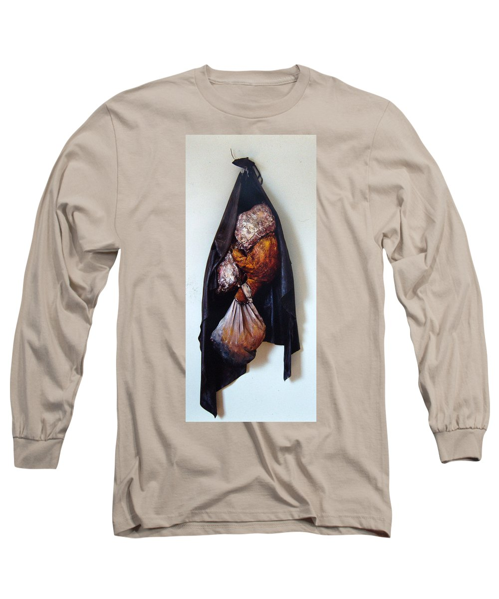 Acrylic Long Sleeve T-Shirt featuring the painting The Curtain by Nancy Mueller