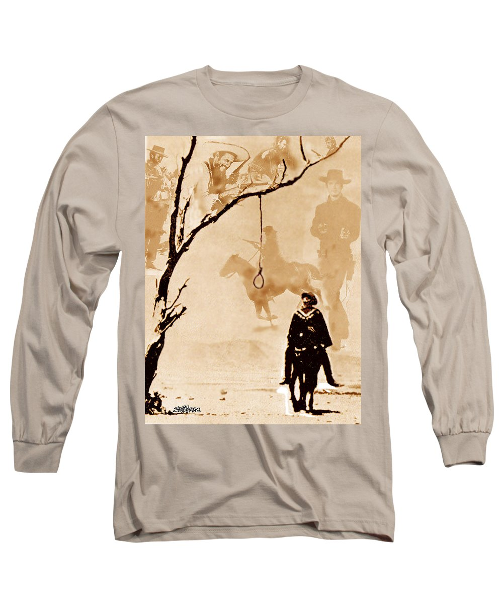 Clint Eastwood Long Sleeve T-Shirt featuring the digital art The Hangman's Tree by Seth Weaver
