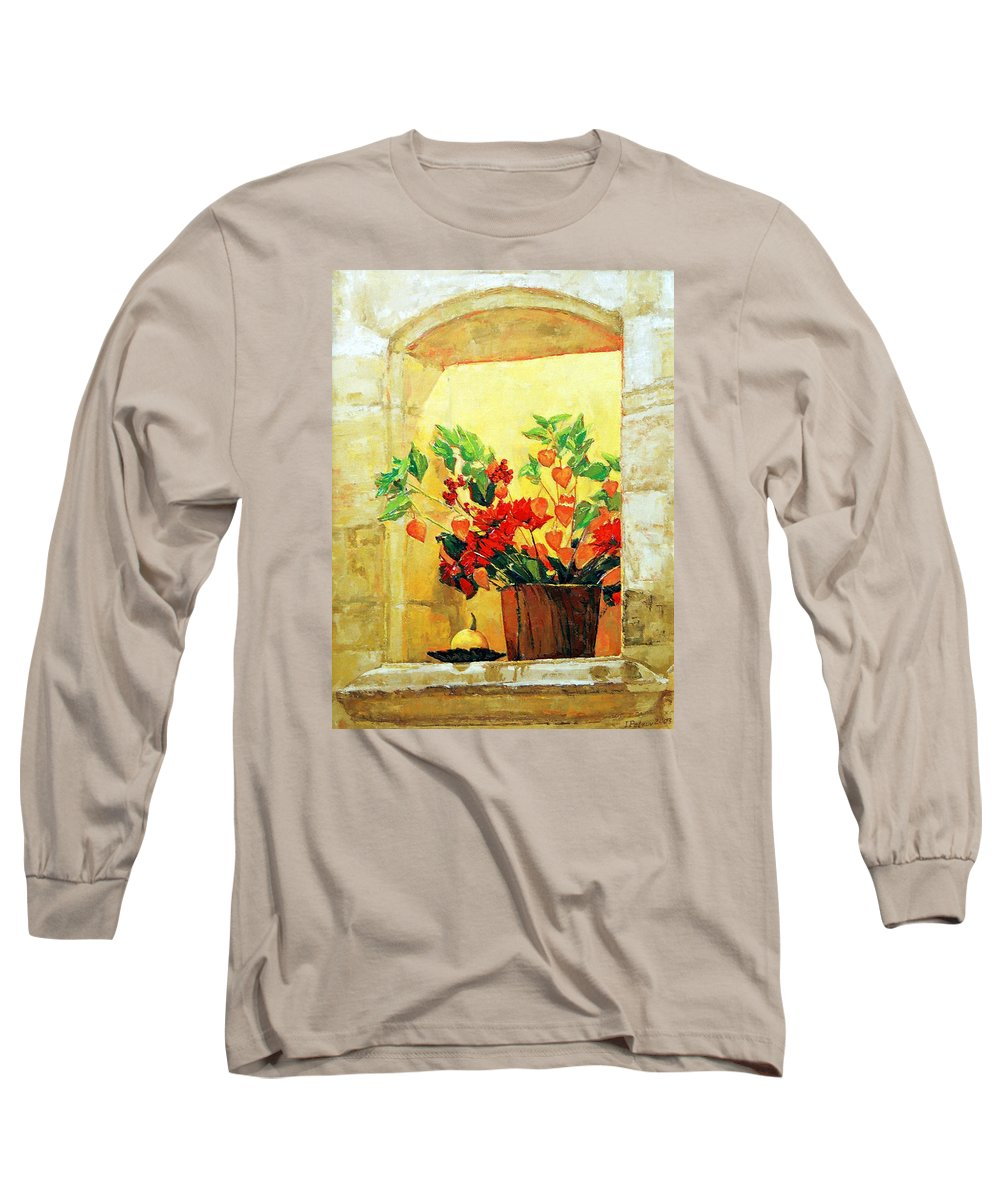 Still Life Long Sleeve T-Shirt featuring the painting The Light by Iliyan Bozhanov