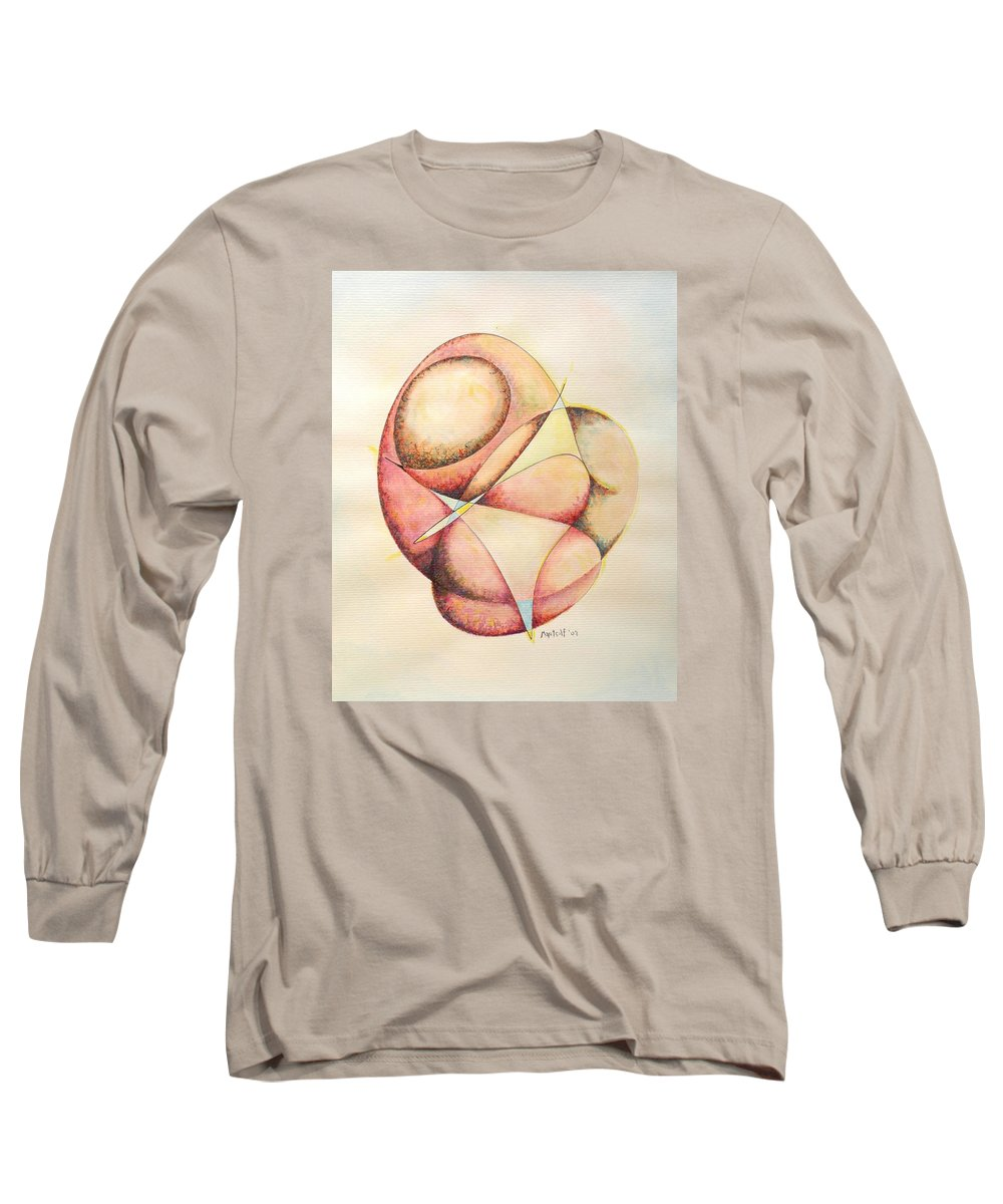Abstract Long Sleeve T-Shirt featuring the painting The Millenium Stone by Dave Martsolf