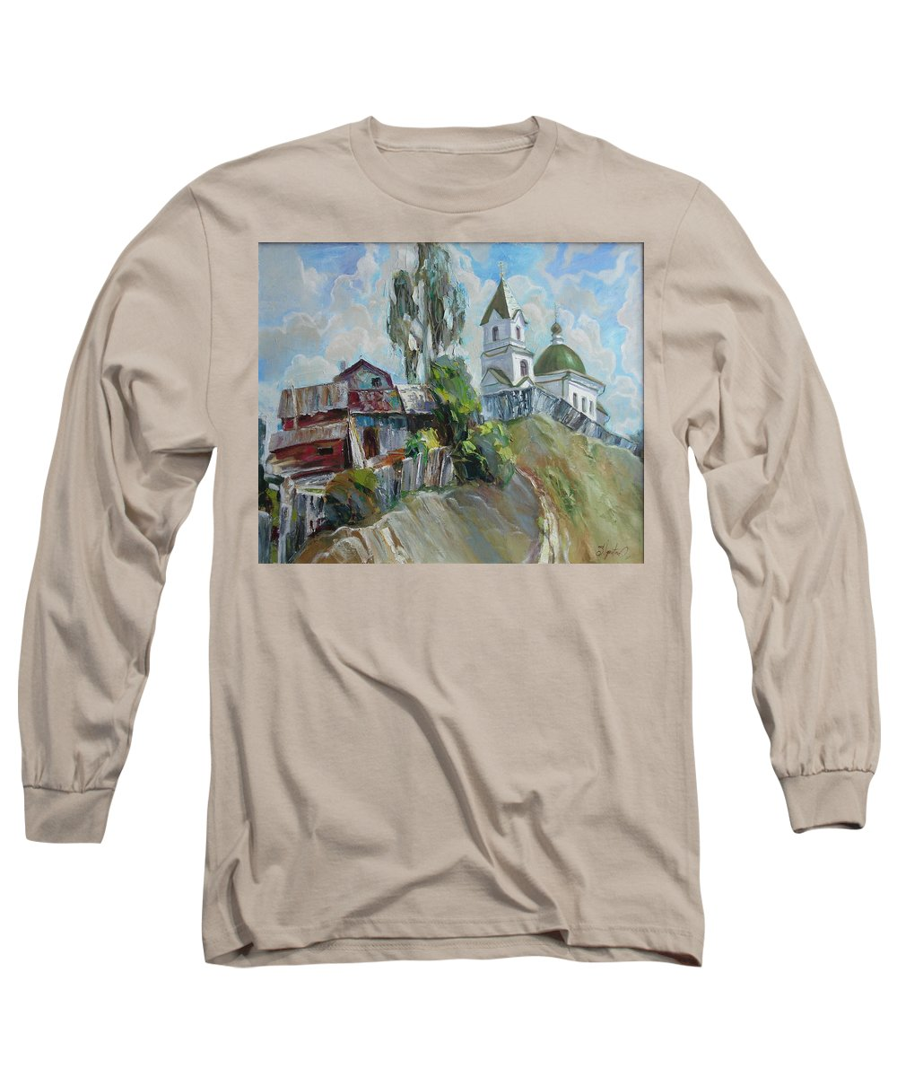 Oil Long Sleeve T-Shirt featuring the painting The Old And New by Sergey Ignatenko