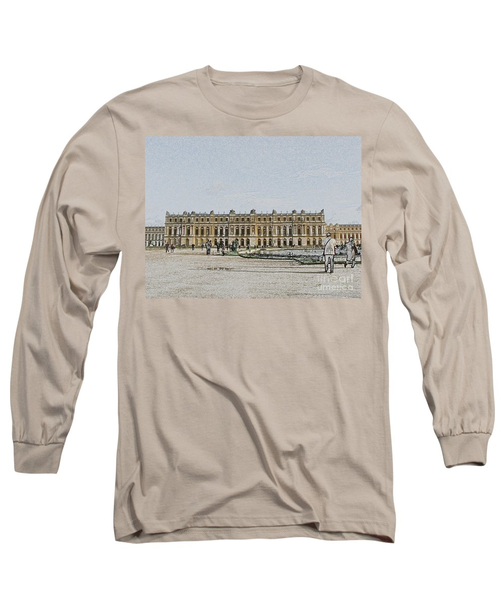 Palace Long Sleeve T-Shirt featuring the photograph The Palace Of Versailles by Amanda Barcon