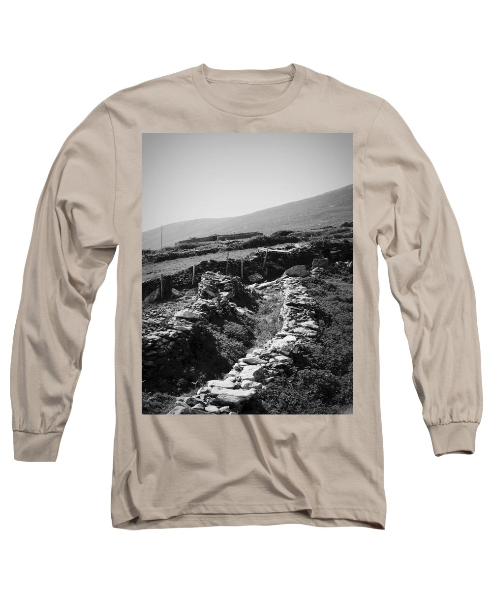 Irish Long Sleeve T-Shirt featuring the photograph The Path To The Beehive Huts In Fahan Ireland by Teresa Mucha