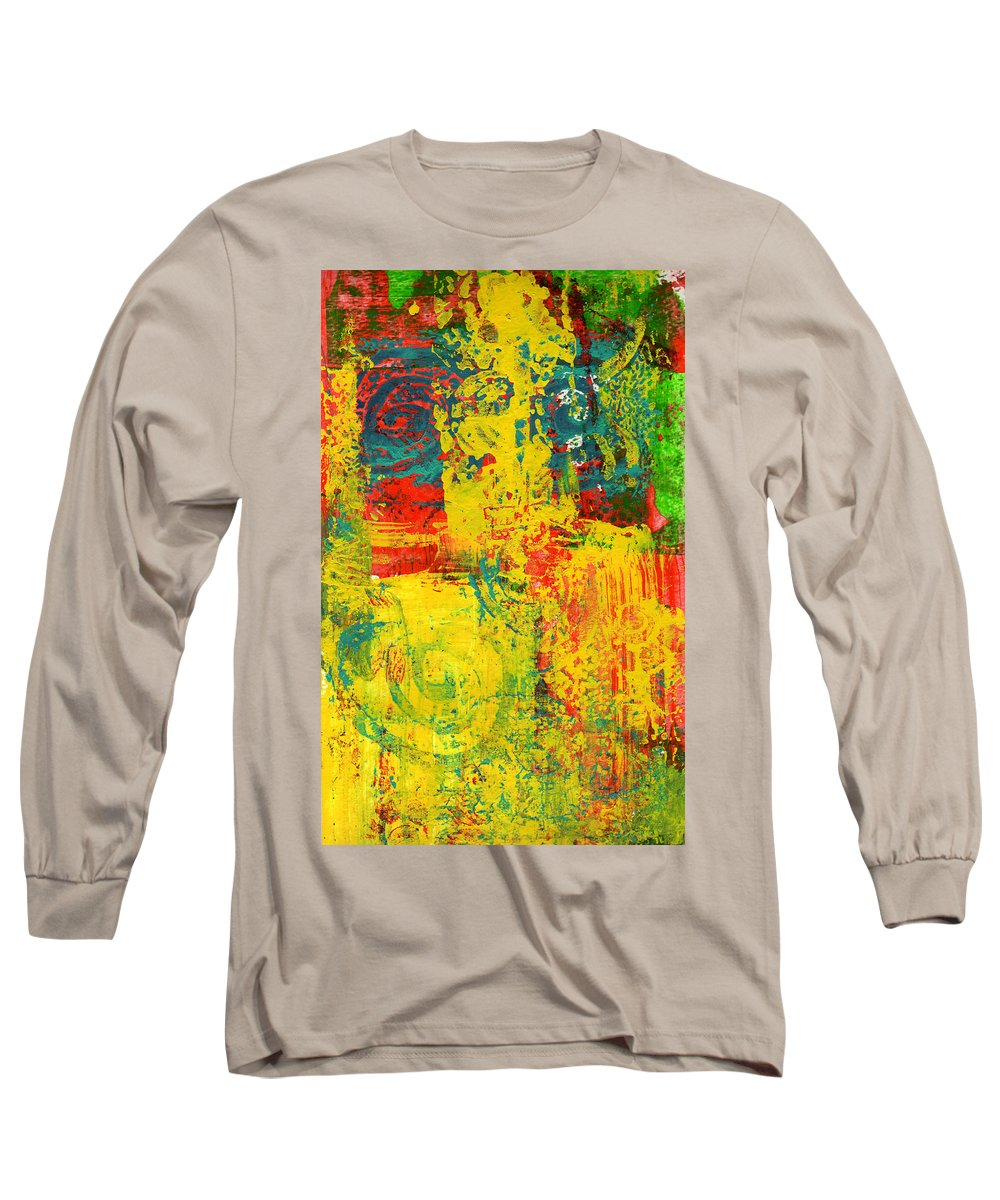 Abstract Long Sleeve T-Shirt featuring the painting The Power Within by Wayne Potrafka