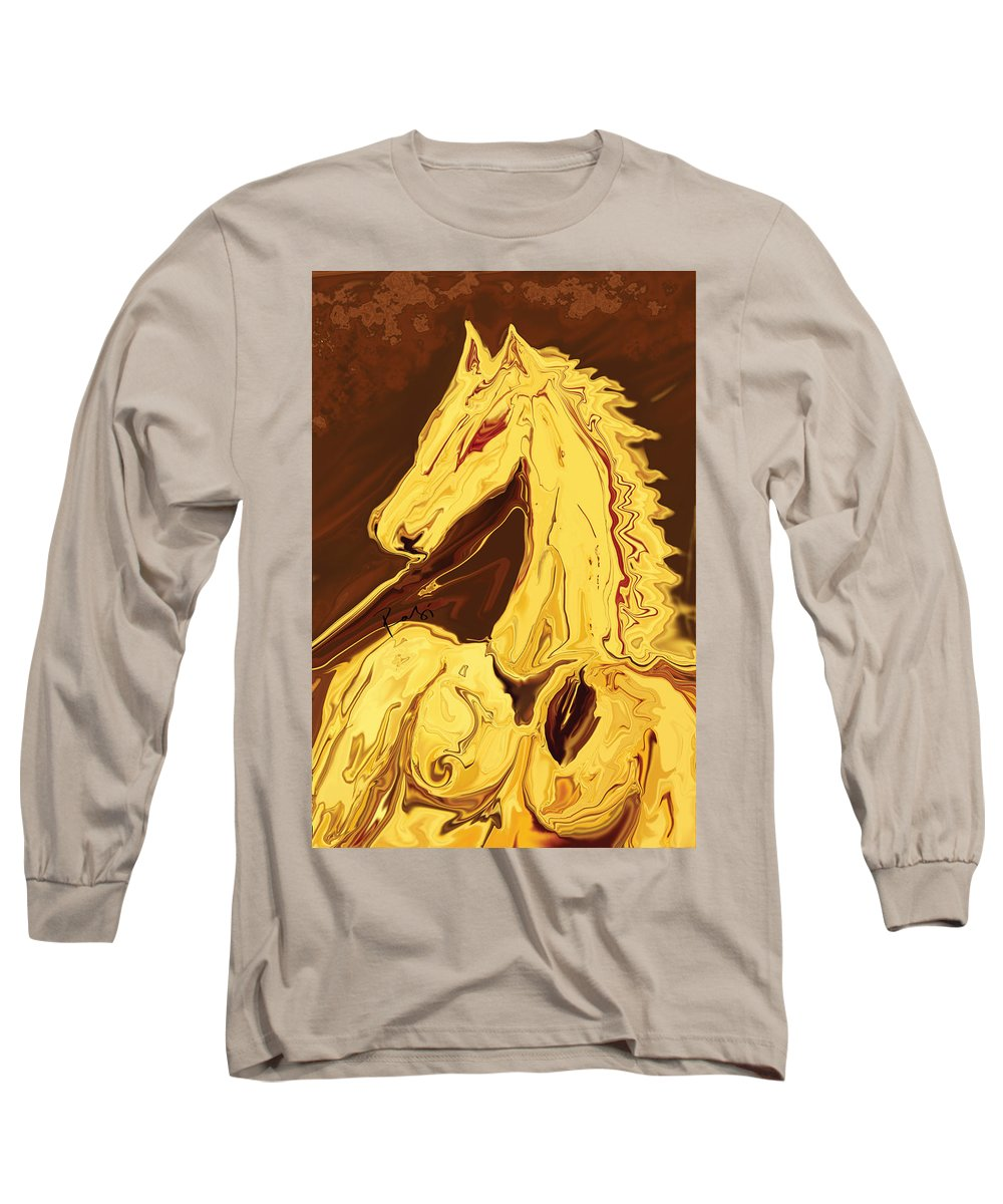 Brown Long Sleeve T-Shirt featuring the digital art The Race by Rabi Khan