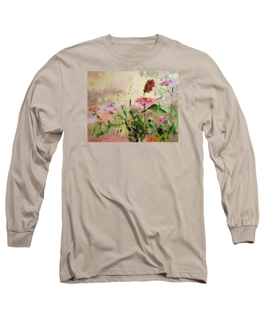 Butterflies Long Sleeve T-Shirt featuring the painting The Seeker by Ginger Concepcion