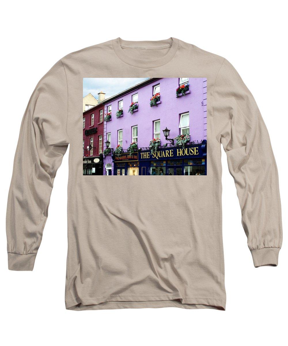 Irish Long Sleeve T-Shirt featuring the photograph The Square House Athlone Ireland by Teresa Mucha