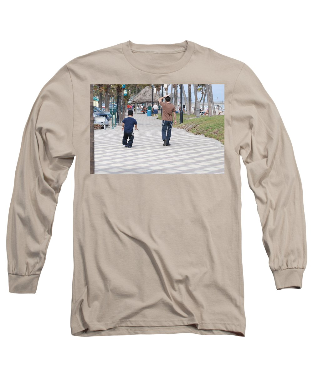 Man Long Sleeve T-Shirt featuring the photograph The Walk by Rob Hans