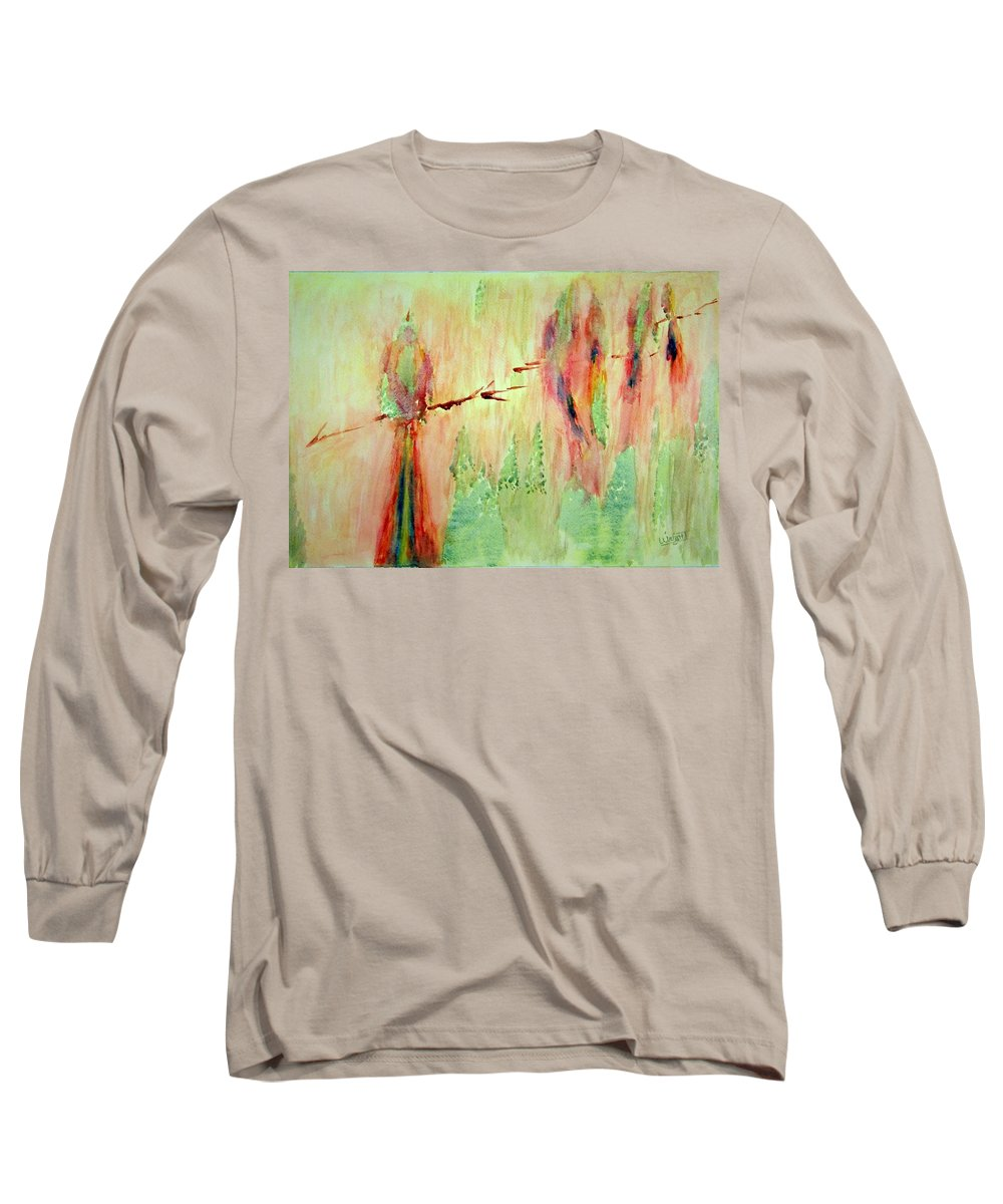 Abstract Art Long Sleeve T-Shirt featuring the painting This Must Be A Dream by Larry Wright