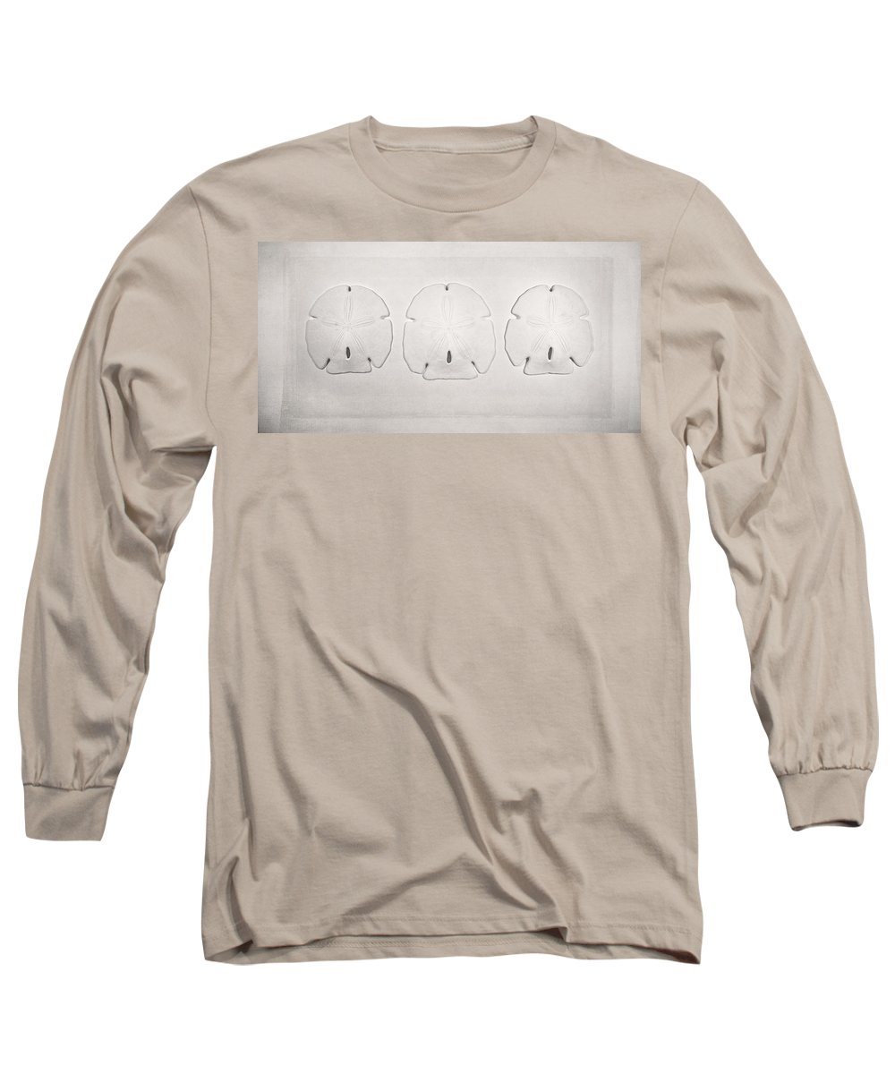 Scott Norris Photography Long Sleeve T-Shirt featuring the photograph Three Sand Dollars by Scott Norris