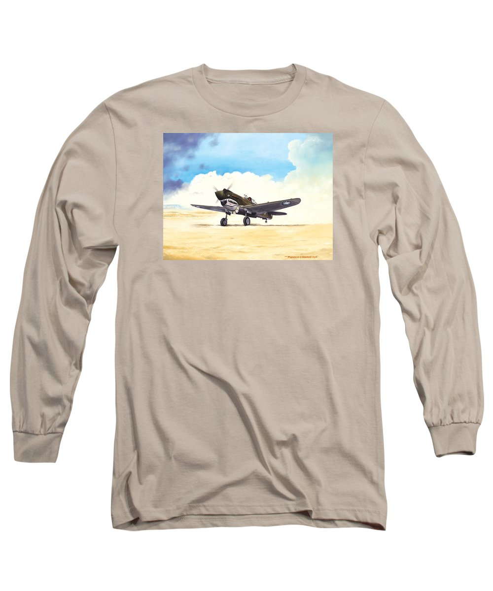 Aviation Long Sleeve T-Shirt featuring the painting Tiger Scramble by Marc Stewart