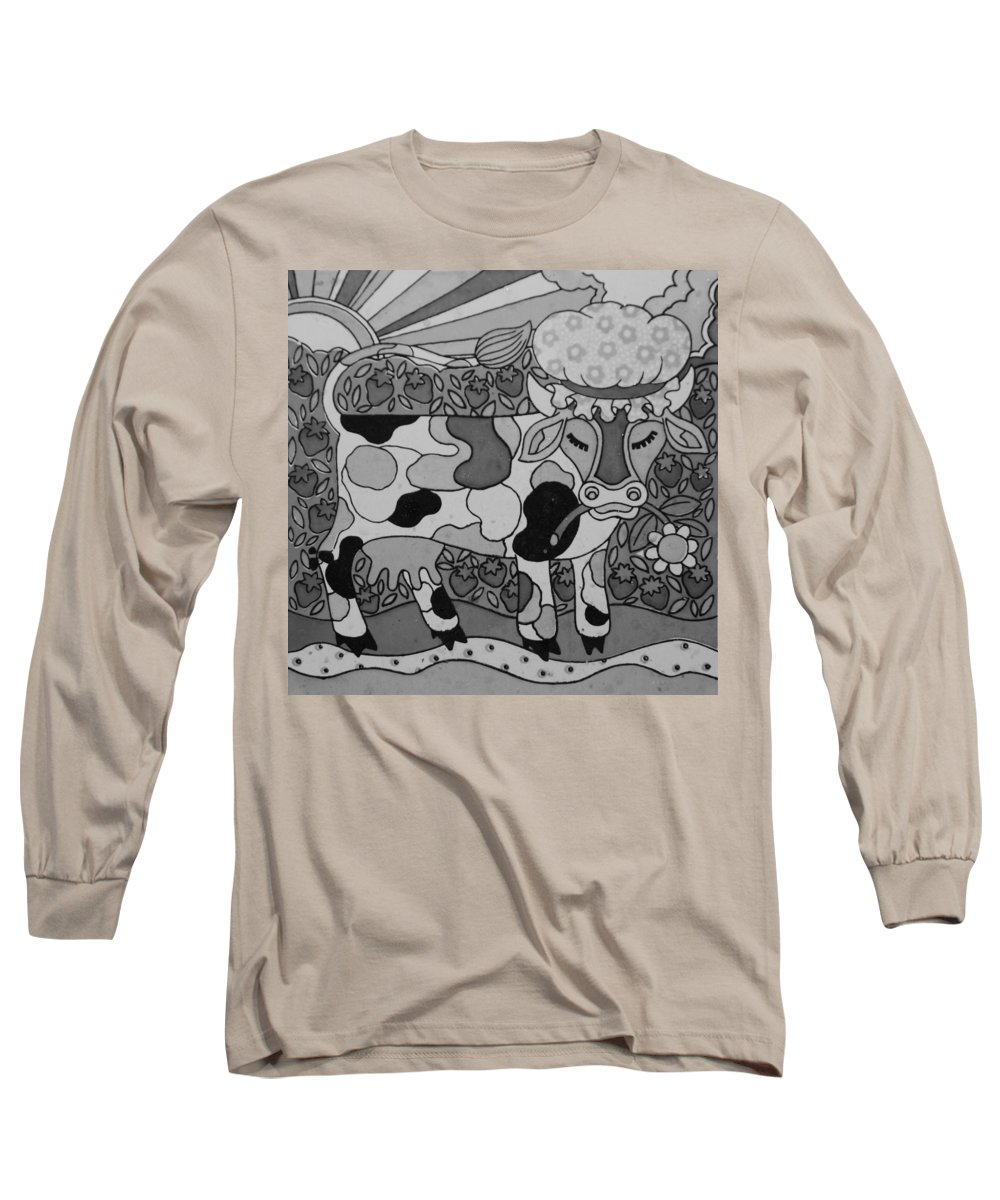 Pop Art Long Sleeve T-Shirt featuring the photograph Tile Cow by Rob Hans