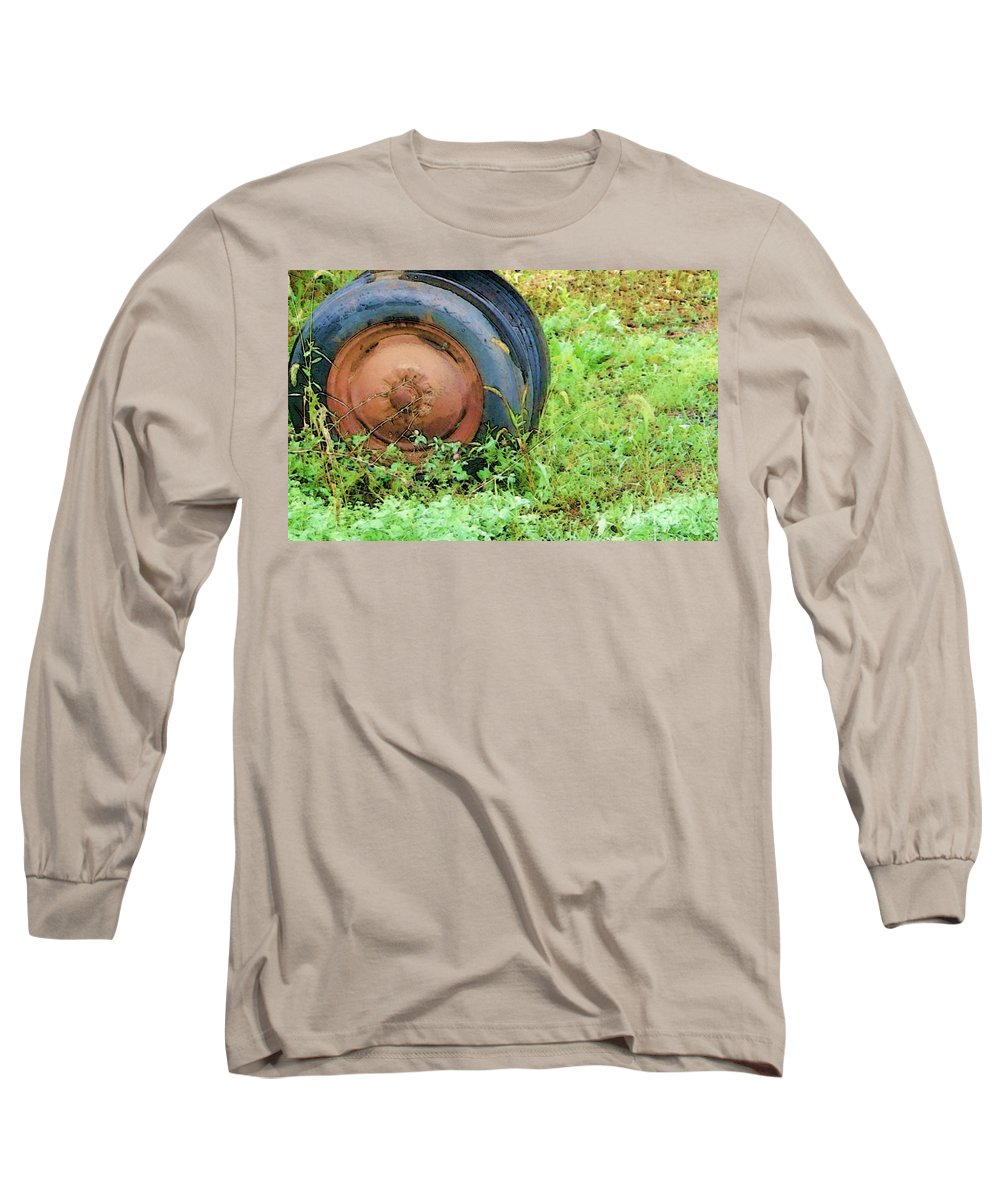 Tire Long Sleeve T-Shirt featuring the photograph Tired by Debbi Granruth