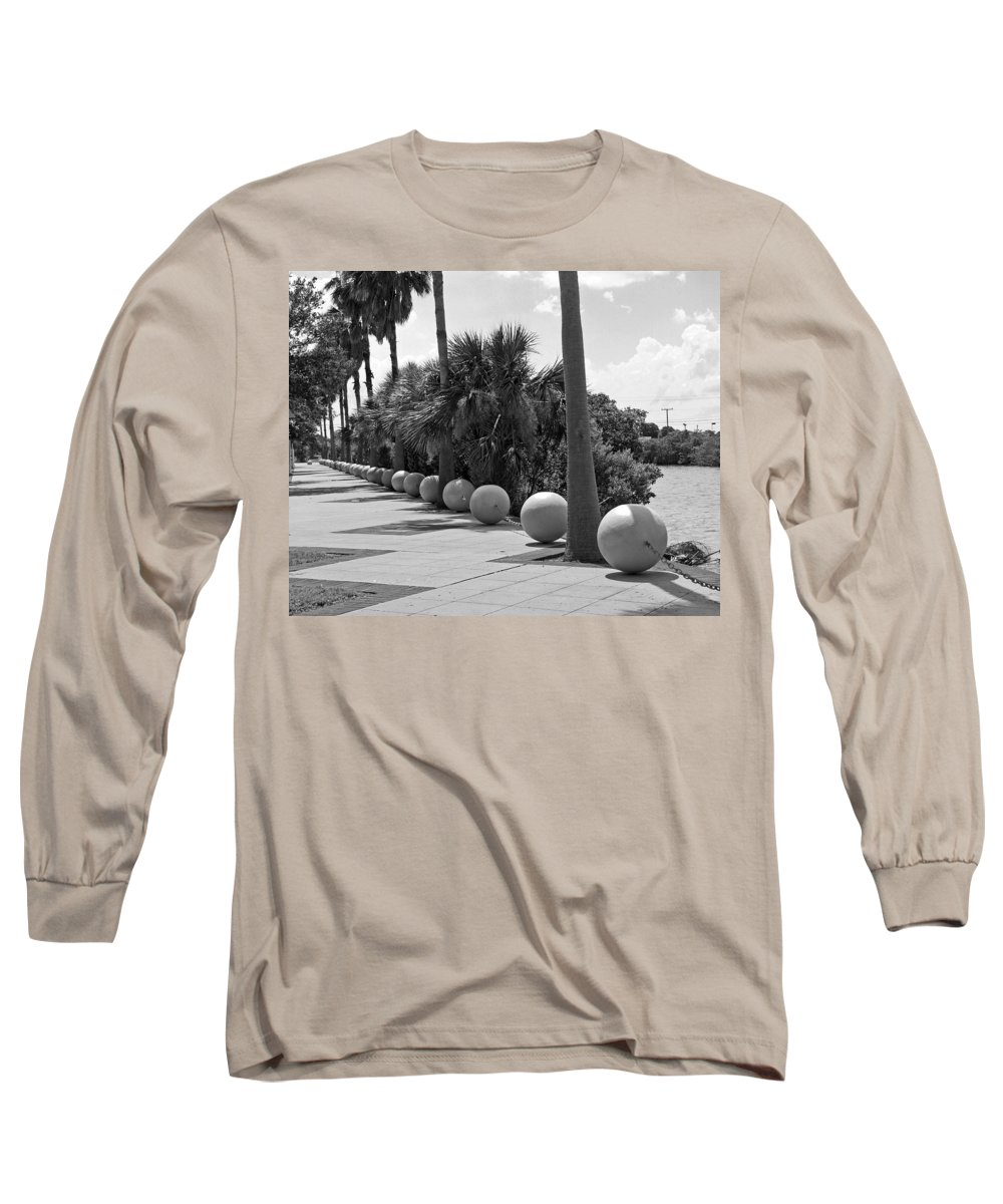 Florida; Titusville; Space; Coast; Astronauts; Astronaut; Cape; Canaveral; Mercury; Project; Freedom Long Sleeve T-Shirt featuring the photograph Titusville On The Indian River Lagoon In Florida by Allan Hughes