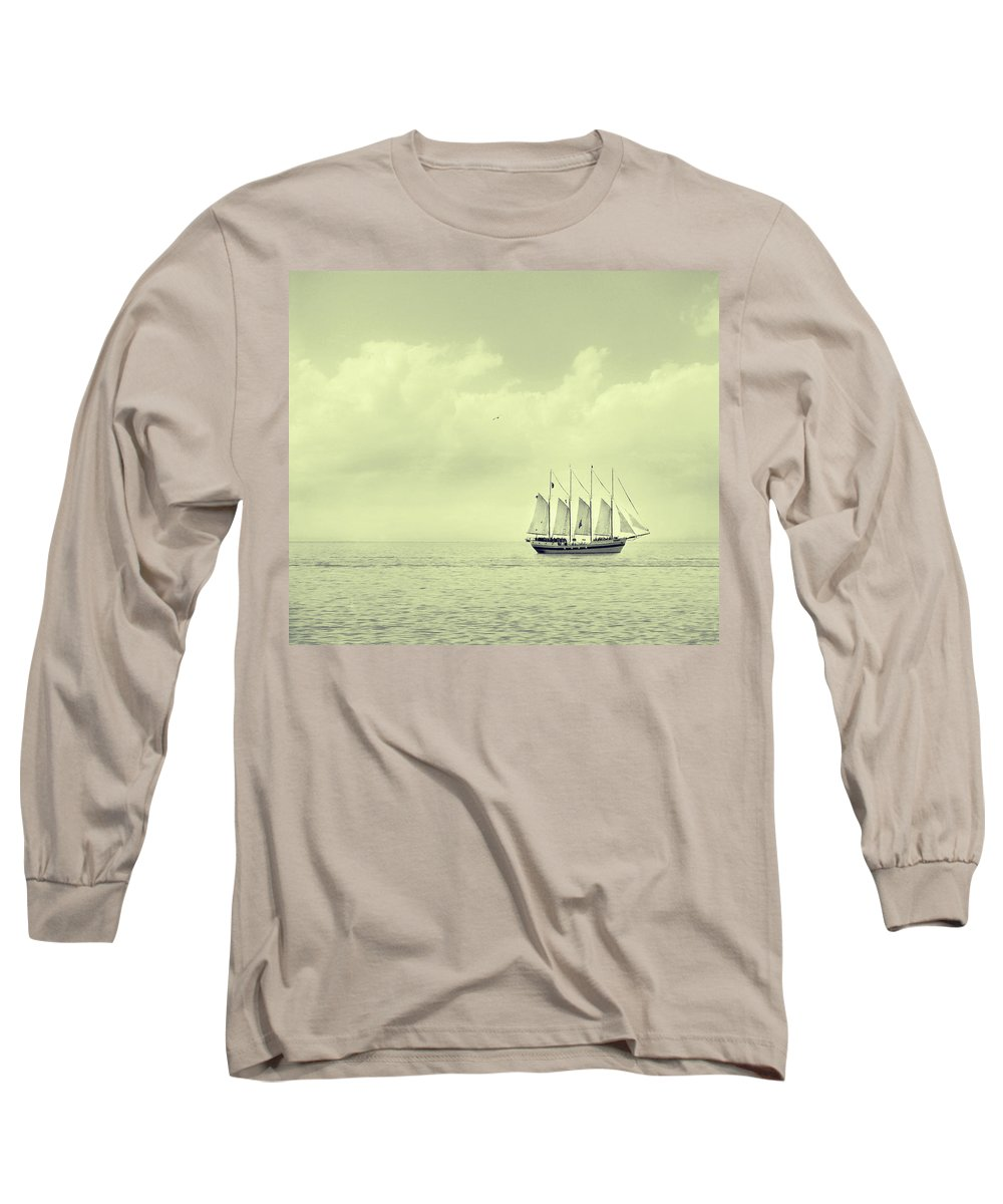 Ship Long Sleeve T-Shirt featuring the photograph To Hold Time In Your Hand by Dana DiPasquale