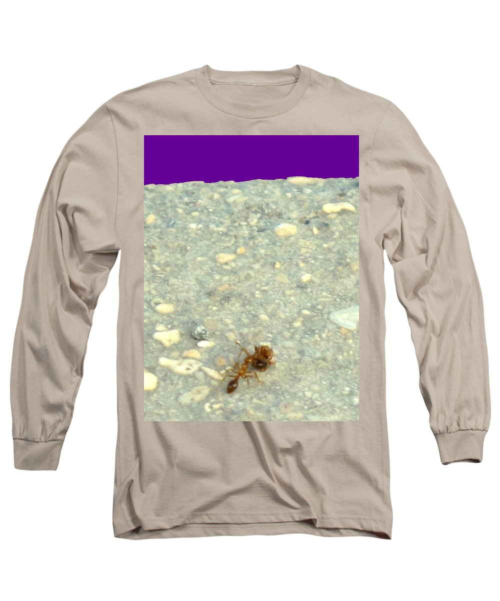 Ant Long Sleeve T-Shirt featuring the photograph To The Edge by Ian MacDonald