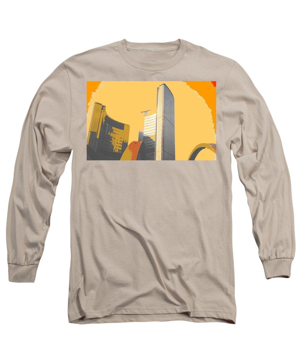 Toronto Long Sleeve T-Shirt featuring the photograph Toronto City Hall Arches by Ian MacDonald