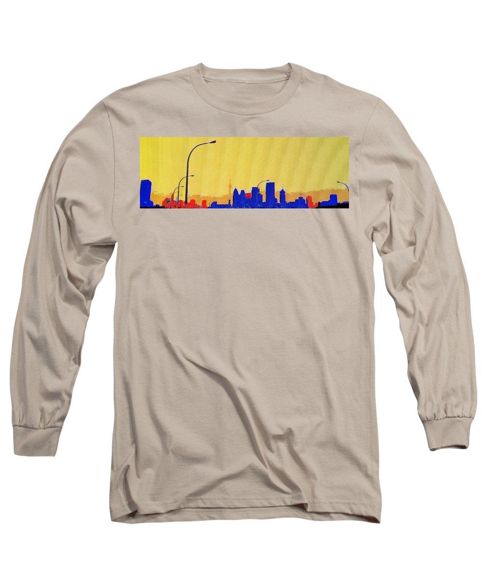 Toronto Long Sleeve T-Shirt featuring the photograph Toronto Lemon Skyline by Ian MacDonald