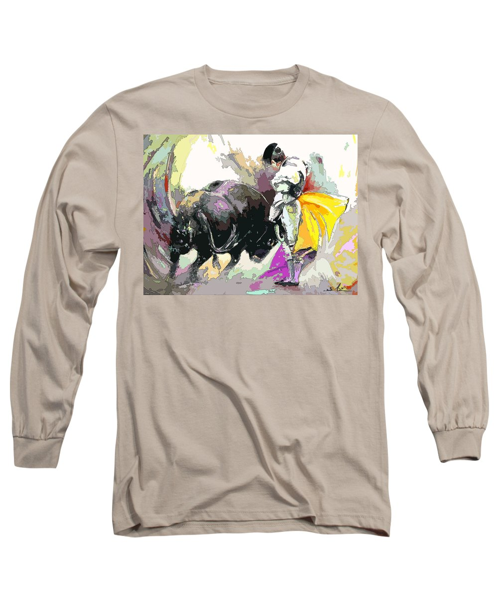 Animals Long Sleeve T-Shirt featuring the painting Toroscape 39 by Miki De Goodaboom