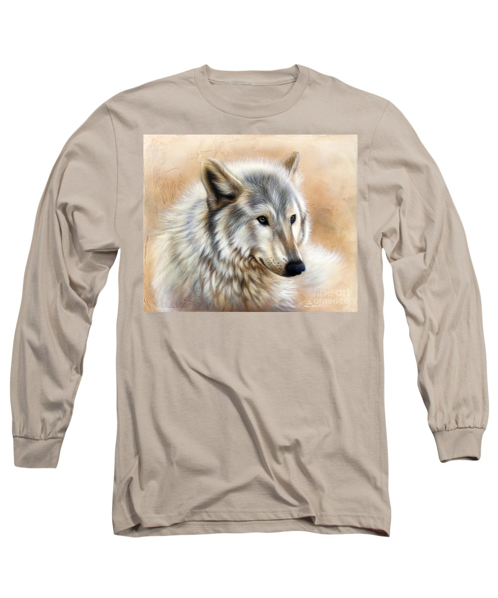 Acrylic Long Sleeve T-Shirt featuring the painting Trace by Sandi Baker