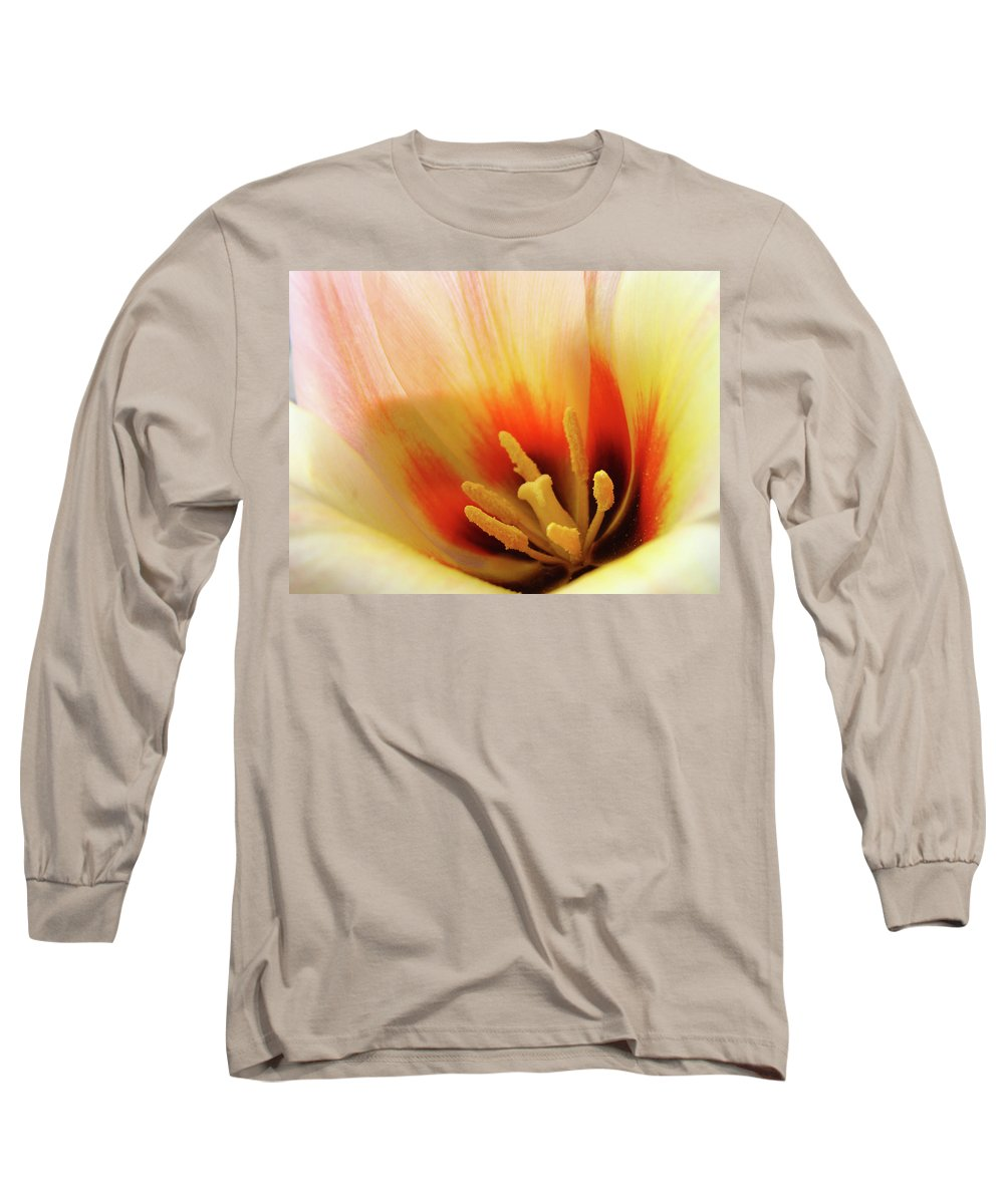 �tulips Artwork� Long Sleeve T-Shirt featuring the photograph Tulip Flower Artwork 31 Tulips Flowers Macro Spring Floral Art Prints by Baslee Troutman