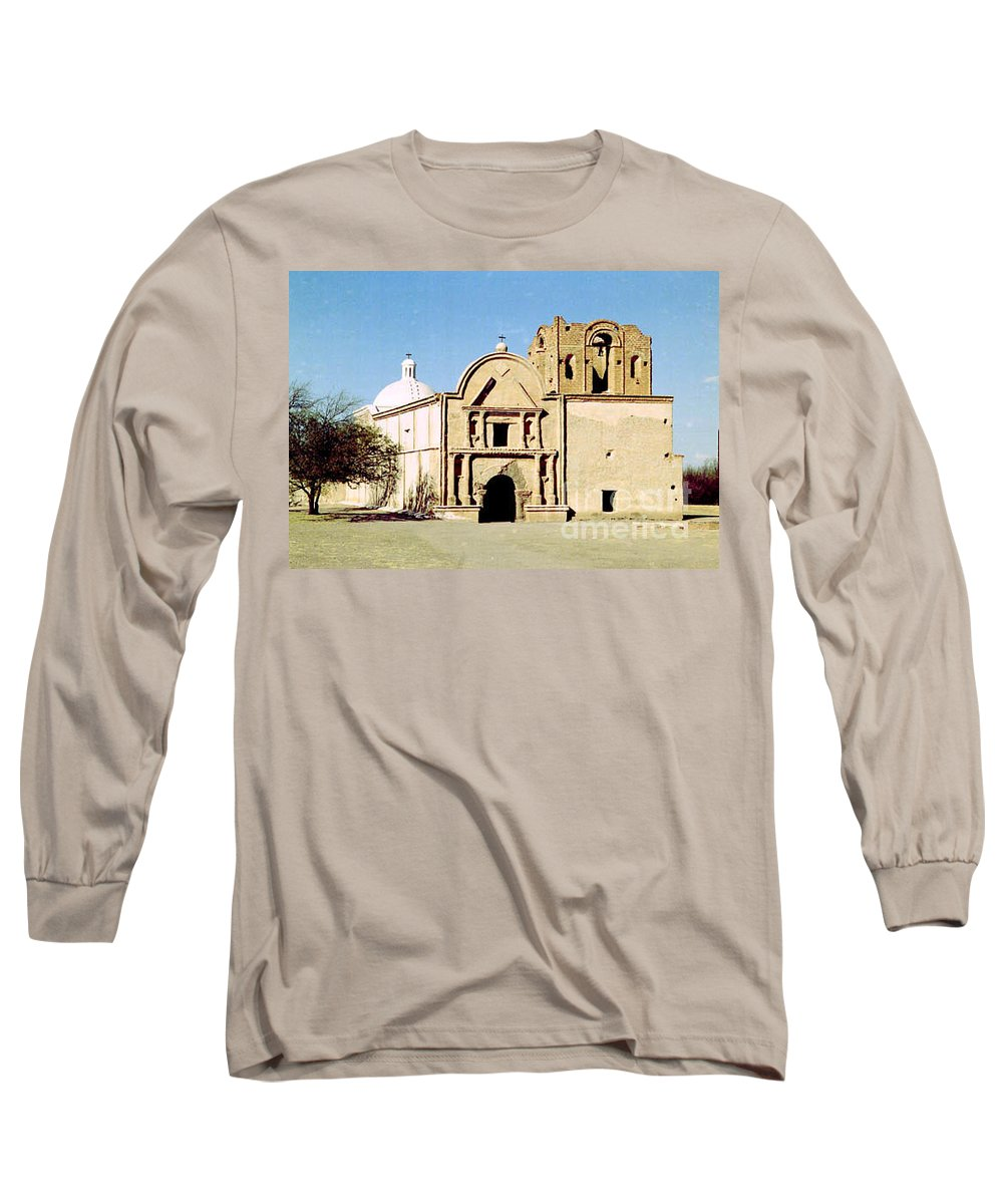 Mission Long Sleeve T-Shirt featuring the photograph Tumacacori by Kathy McClure