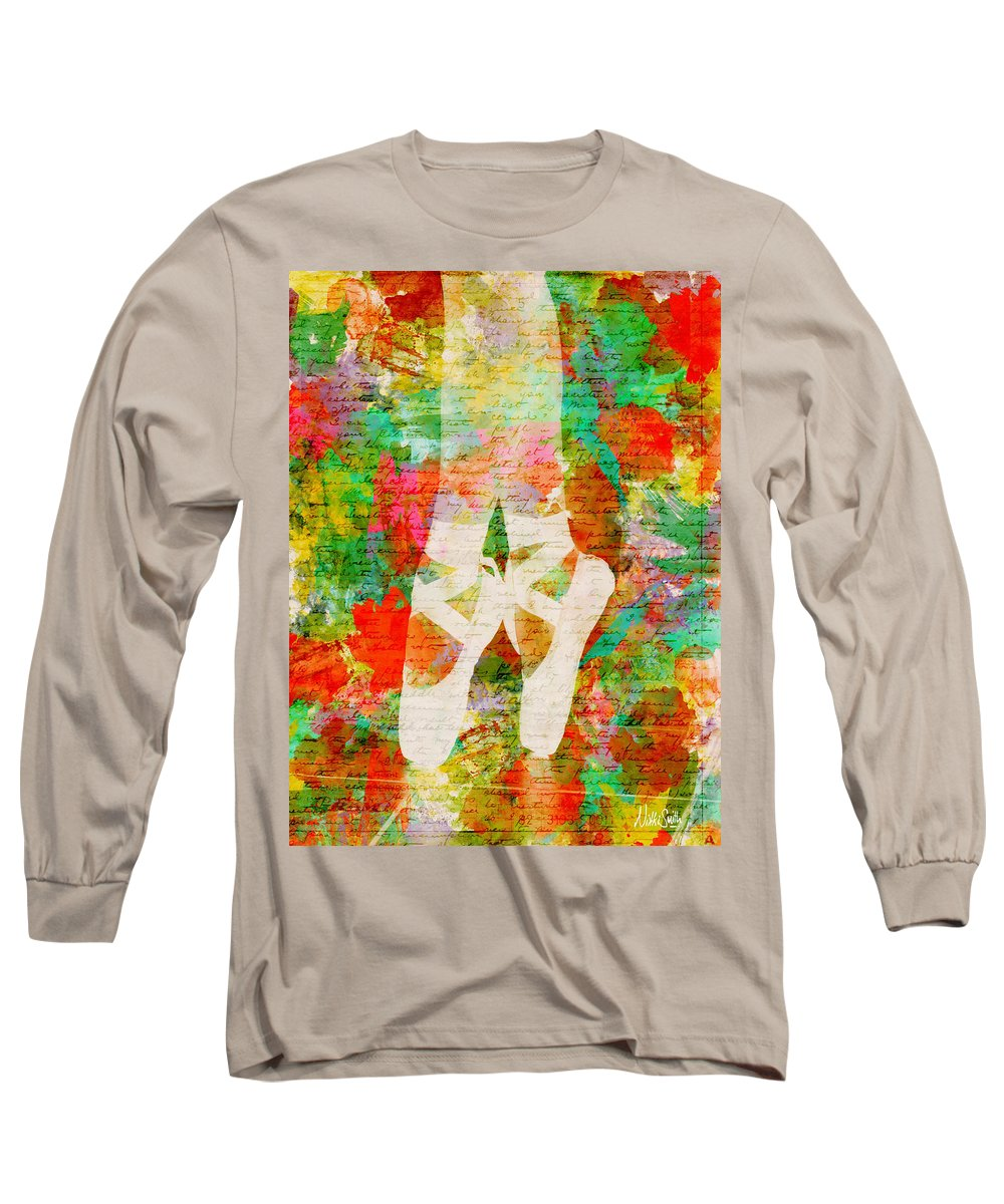 Ballet Long Sleeve T-Shirt featuring the digital art Twinkle Toes by Nikki Marie Smith