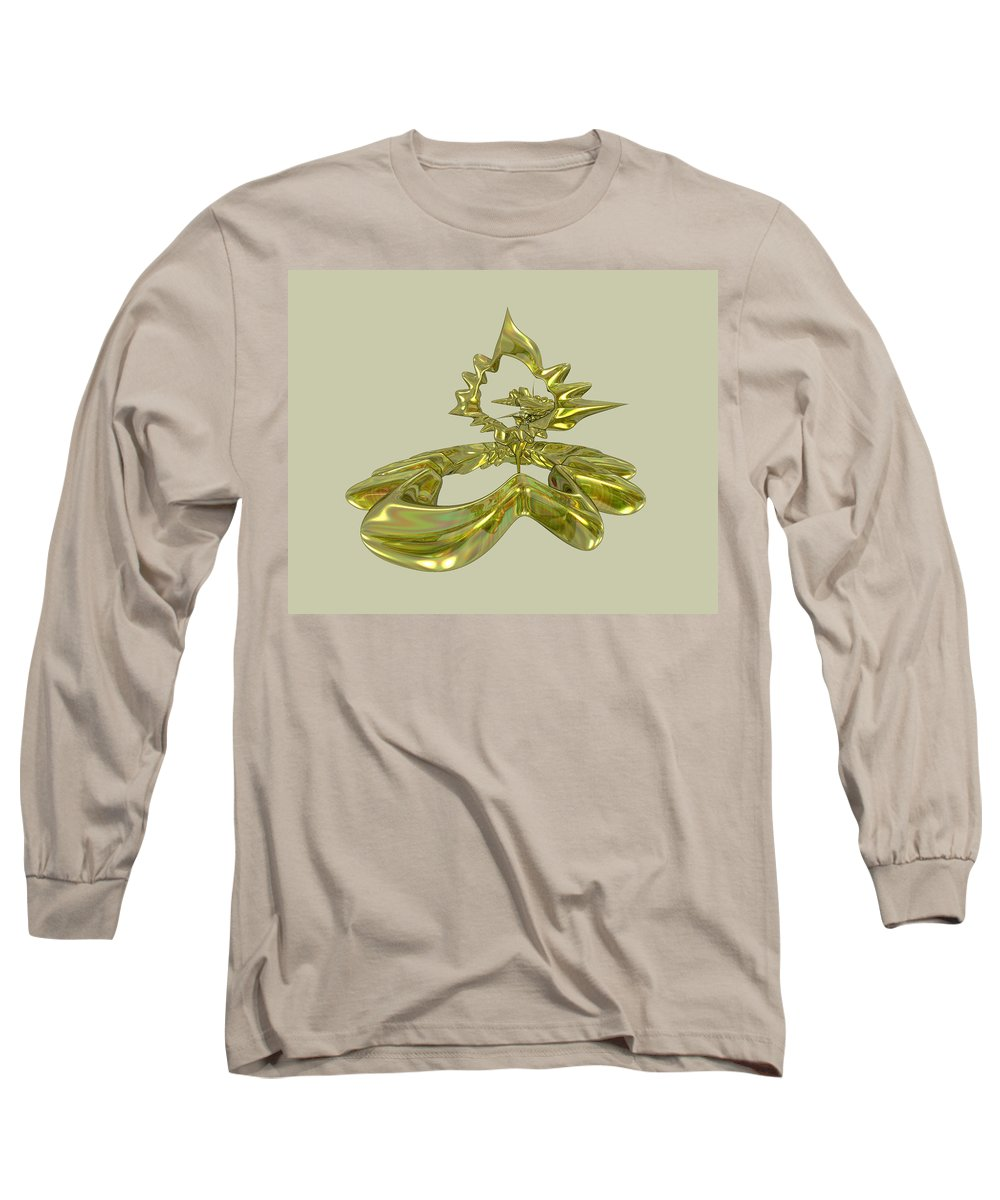 Fractal Long Sleeve T-Shirt featuring the digital art UFO by Frederic Durville