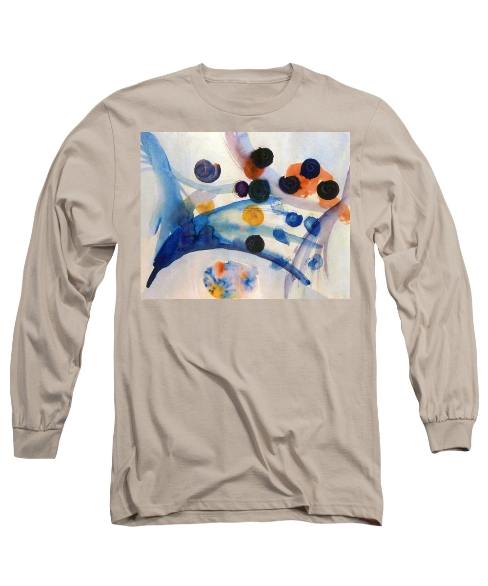 Abstract Long Sleeve T-Shirt featuring the painting Under The Sea by Steve Karol