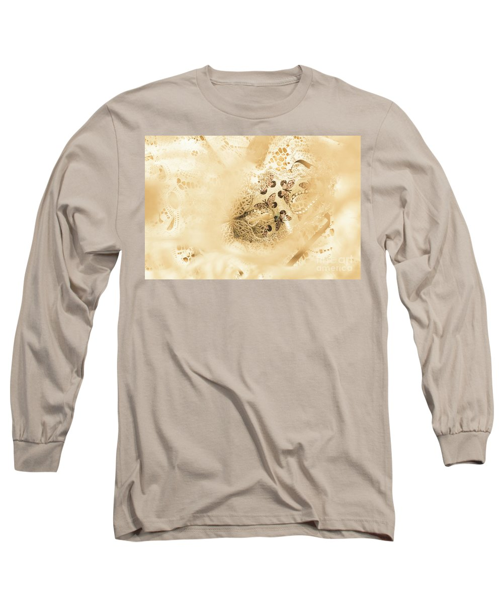 Mask Long Sleeve T-Shirt featuring the photograph Venetian Performance Of Mystery by Jorgo Photography - Wall Art Gallery