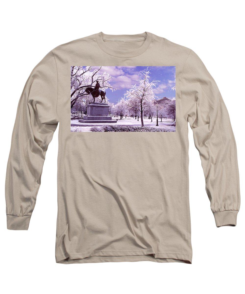 Landscape Long Sleeve T-Shirt featuring the photograph Washington Square Park by Steve Karol