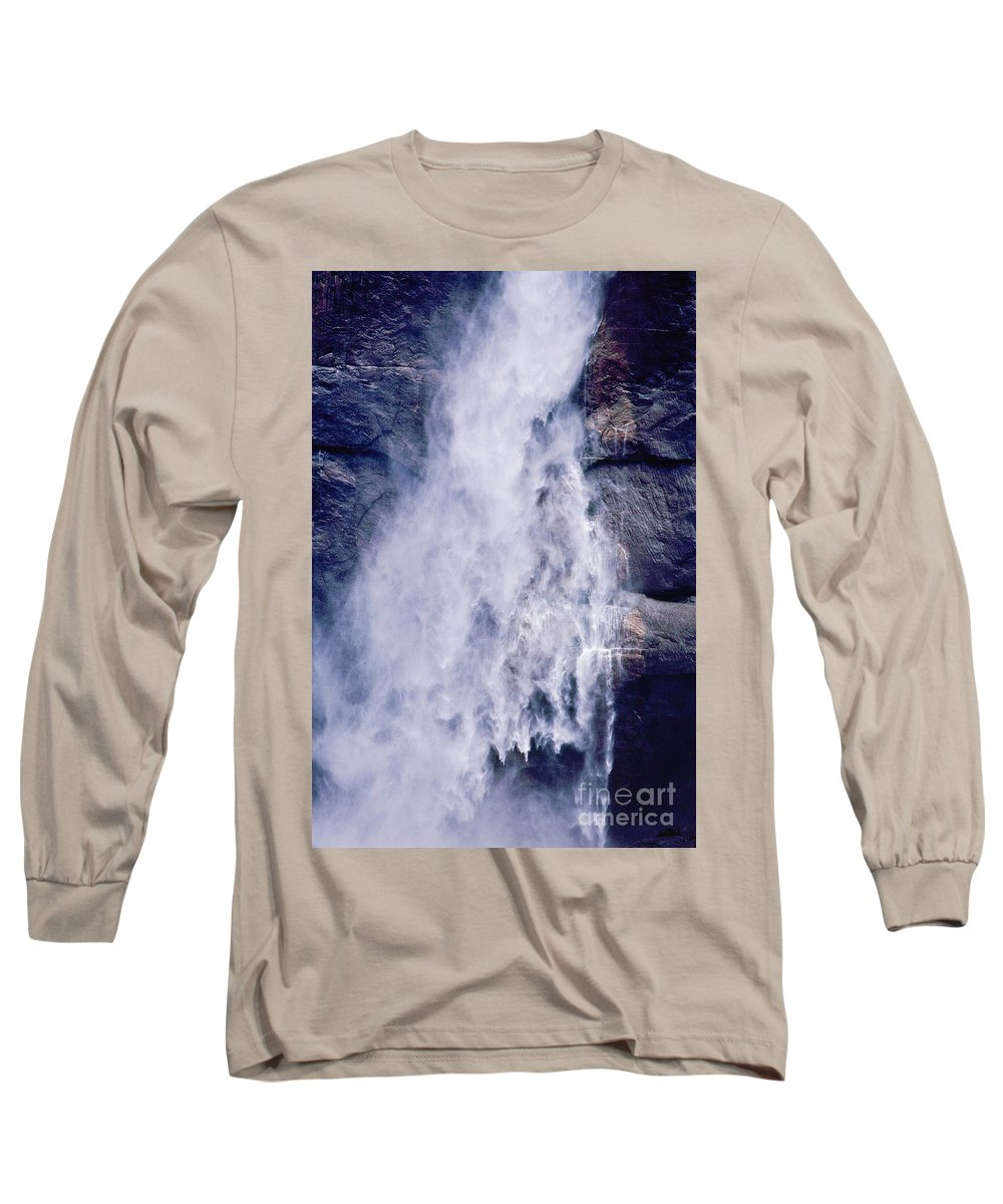 Waterfall Long Sleeve T-Shirt featuring the photograph Water Drops by Kathy McClure
