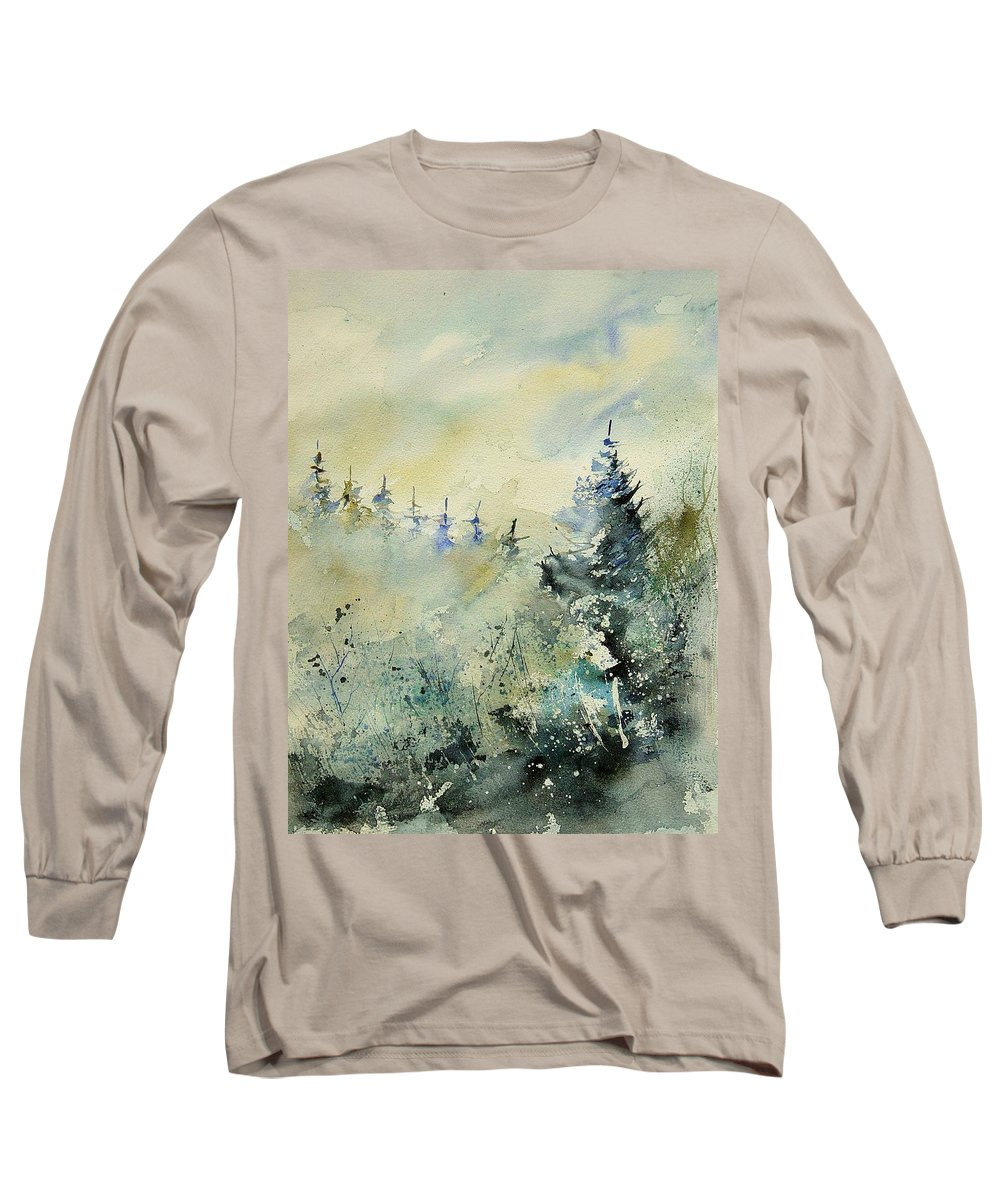 Winter Long Sleeve T-Shirt featuring the painting Watercolor 020307 by Pol Ledent
